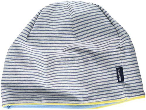 maximo Baby-Jungen Beanie, Ringeljersey, GOTS Mütze, Mehrfarbig (Graumeliert/Bluemeliert 613), 49