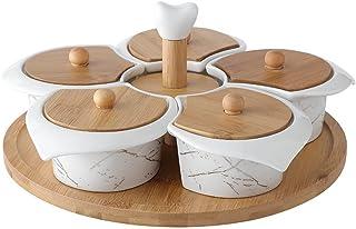 سناك تغمس سناك صحن تقديم طبق مقبلات مجموعة فواكه جافة صواني تقديم طبق مع كسول سوزان