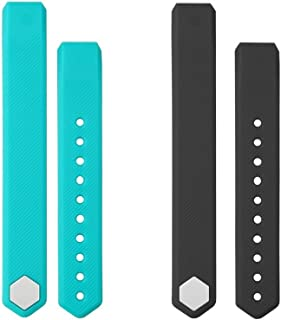 TOOBUR Replacement Straps Watchband for ID115 and ID115HR, 2 Pack (Green Black)