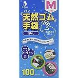 宇都宮製作 クイン 天然ゴム手袋(パウダーフリー) M100枚