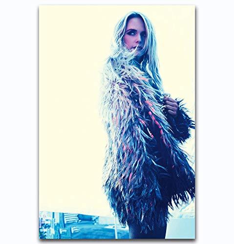 PMSMT Hot New Miranda Lambert Beauty Pop Music-Art Seda Cartel Etiqueta de la Pared decoración Regalo