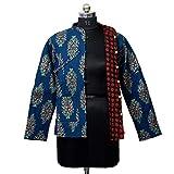 Handicraft Bazarr Cotton Reversible Jacket Kantha Quilted Patchwork Women Coat Vintage Blazer...