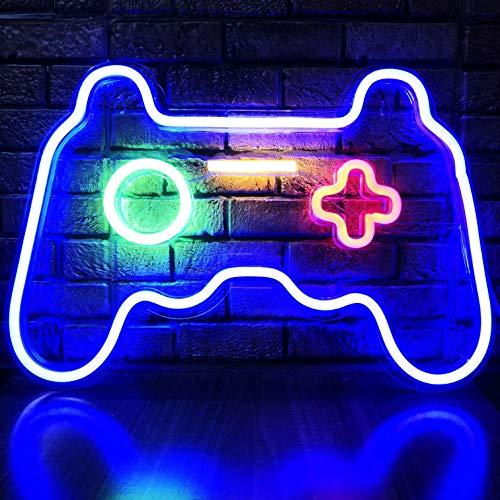 LED Game Neon Sign Gamepad Shape LED Sign Light Gamer Gift for Teen Boys Game Room Decor Bedroom...
