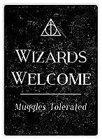 Wizards Welcome ティンサイン ポスター ン サイン プレート ブリキ看板 ホーム バーために