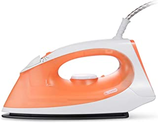 ZQYD 1400-Watt Steam Iron Teflon Soleplate 2 Block Adjustment for A Variety of Fabrics (Color : Orange)