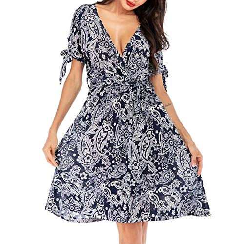 Chiffon Floral Swing Damen Sommerkleid lang Rock New Little Fragrance Gr. 36, Fotofarbe 3