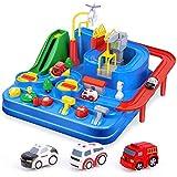 HT&PJ Racing Juguetes Sana Ciudad de Rescate Puzzle niños Juguetes educativos Coches Son adecuados para los niños a Jugar y la sensibilidad de Seguridad,Blue
