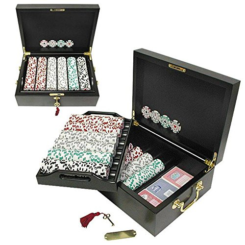 Read About Trademark 500 Chip High Roller Set with Beautiful Mahogany Case (Brown)