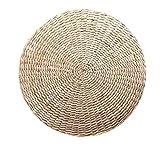 Fransande Tatami - Cojín de suelo para sentado, acolchado redondo, para el piso de la habitación, para el asiento interior al aire libre (11.8 x 4.2 pulgadas)