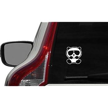 White Panda With Guns Sticker Decal Car Bumper Bansky Windows Art Vinyl Truck 5.5 inches