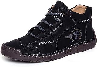 Bottes Hiver Neige pour Hommes Cheville Bottes Chukka Mocassins Chaussures de Marche décontractées Hiver Plat Oxford