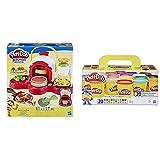 Play Doh -Cocina De Pizza, Multicolor, Talla Única Hasbro E4576Eu4 , Color/Modelo Surtido, Color Surtido, Pack 20 Botes (Hasbro A7924Euc)