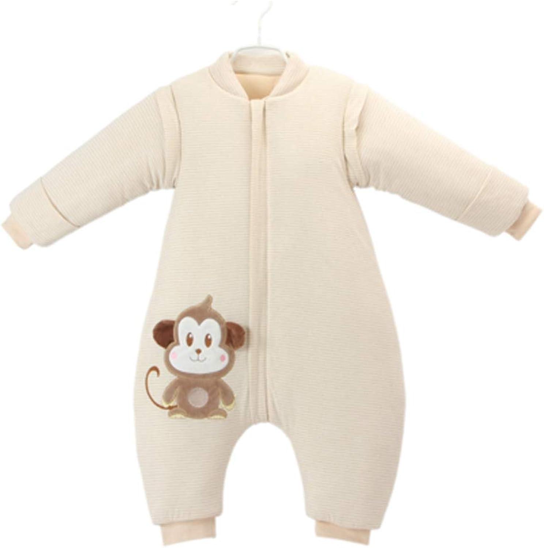 AUGAUST AUGAUST AUGAUST Baumwolle Baby Schlafsack Baby Winter dicken Schlafsack Anti-Kick-Schlafsack (Farbe   Beige, größe   L) B07KN4JCW3  Gewinnen Sie das Lob der Kunden cf01d2