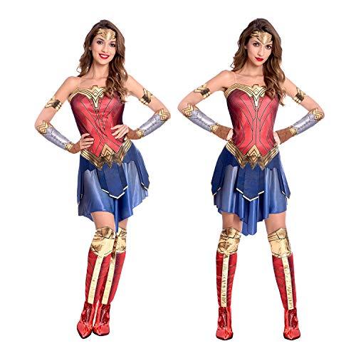 amscan Damen Warner Bros Wonder Woman Film Kostüm (Kleine Größe 10-12)