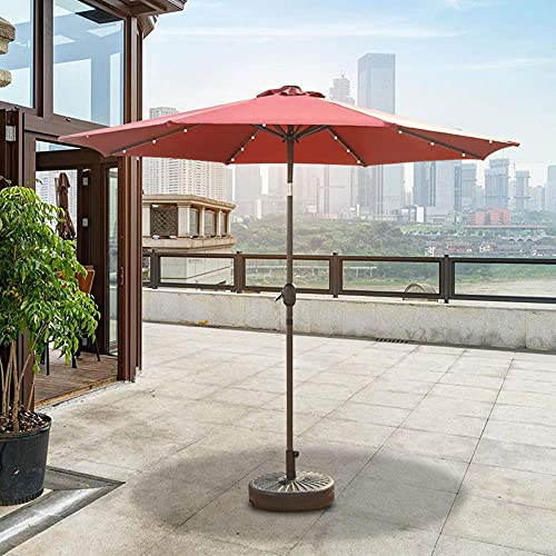 CCLLA Parasol de jardín LED Parasol de jardín al Aire Libre Parasol de Pilar Central 8.86 pies Pabellón de Sol portátil con Mango Paraguas Plegable de balancín Adecuado para Porche, terraza, Patio