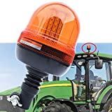 JALN7 Luz LED de Emergencia Rotativo Flexible para Tractor Faros Ambar Intermitente Beacon Giratorio...