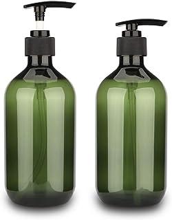 Sdoot Pump Bottle, 17oz 500ml Shampoo Pump Bottles Empty Lotion Bottles with Pump Dispenser, 2 Pack-Green