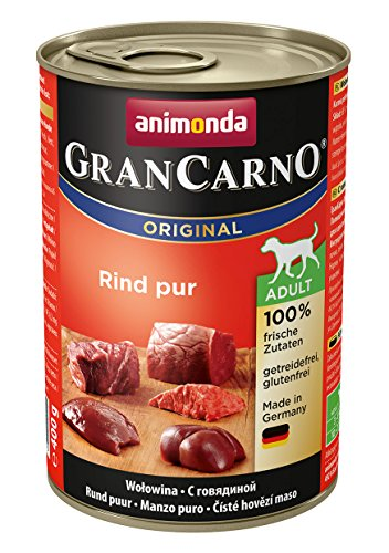 animonda Gran Carno adult Hundefutter, Nassfutter für erwachsene Hunde, Rind pur,  6 x 400 g