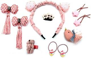 مجموعة إكسسوارات شعر أطفال لطيفة - 10 قطع من إكسسوارات الشعر للفتيات، مشابك شعر معدنية سهلة الإغلاق بنجوم الحلوى، للبنات أ...