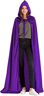 Deluxe Velvet Cloak/Cape with Lined Hood for Adult(63 inches)