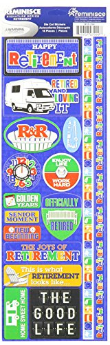 "Signature Series Cardstock Combo Sticker 4.25""X12"", Retirement"