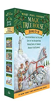 Magic Tree House Boxed Set Books 13-16 Vacation Under the Volcano Day of the Dragon King Viking Ships at Sunrise and Hour of the Olympics