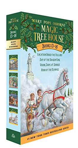 Magic Tree House Boxed Set, Books 13-16: Vacation Under the Volcano, Day of the Dragon King, Viking Ships at Sunrise, an