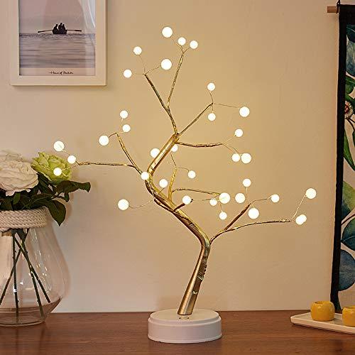 Boomlamp Parel Tafellamp Koper Draadlamp Brandweer Kamer Decoratie Nachtlampje Batterij