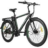 ANCHEER 26' E-Bike mit Abnehmbarer 10Ah Akku, 6-Gang-Getriebe Elektrofahrrad 250W Pedelec für...