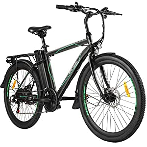 Electric Bikes ANCHEER 26″ Electric Bike City Commute Bike with Removable 10AH Battery, 6 Speed Gear Electric Bicycle for Adult [tag]