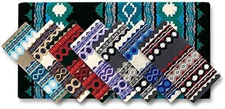 بطانية Mayatex Riverland Saddle Blanket, فحمي/أشقر/كبير/أسود/أحمر