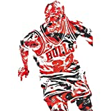 CHENYE 300,500,1000 Pieces Jigsaw Puzzle,Basketball Star Poster Colorful IQ Game Intelligent Educational Toys for Kids Adult, Premium Quality Basswood,Easy Clean Surface