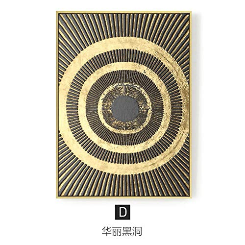 BIZHIDAQING Le fils de l'univers, salon minimaliste moderne, peinture décorative, style industriel, peinture murale créative, peinture d'art de lune grise, 43 * 63, D