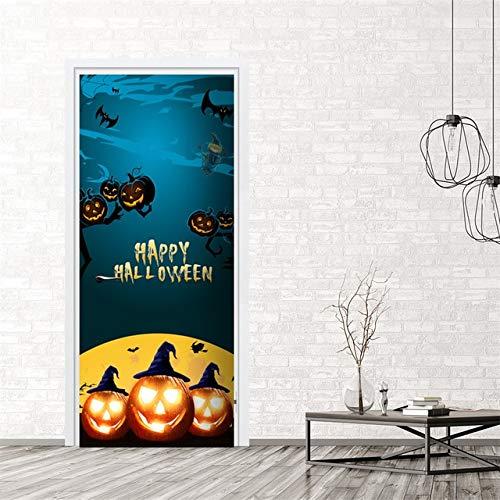 tonywu Happy Halloween Türaufkleber, Kürbis Cute Party Dress Up Zubehör, DIY Selbstklebende wasserdichte kreative lustige Türaufkleber, Glasfensteraufkleber Poster Abziehbilder B