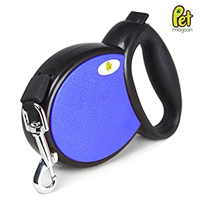 Pet Magasin Retractable Dog Leash, Tape-Style for Safety