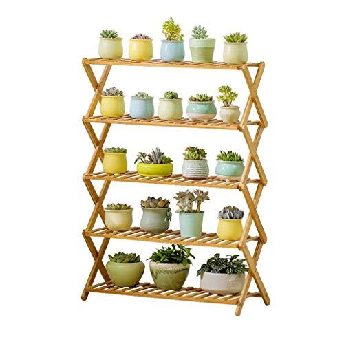 LLYU Creatieve multifunctionele plantenstandaard, opvouwbare houten meerlaagse balkon woonkamer plantenstandaard gepotte displaystandaard binnen en buiten wastafel standaard