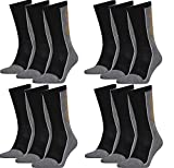 HEAD Unisex Performance Crew Socken Sportsocken 12er Pack (grau/schwarz, 43-46)