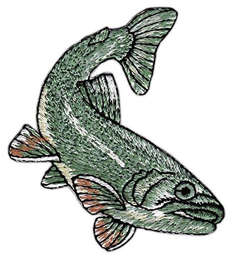 Patch Fisch Aufnäher Bügelbild Größe 6,0 x 7,0 cm