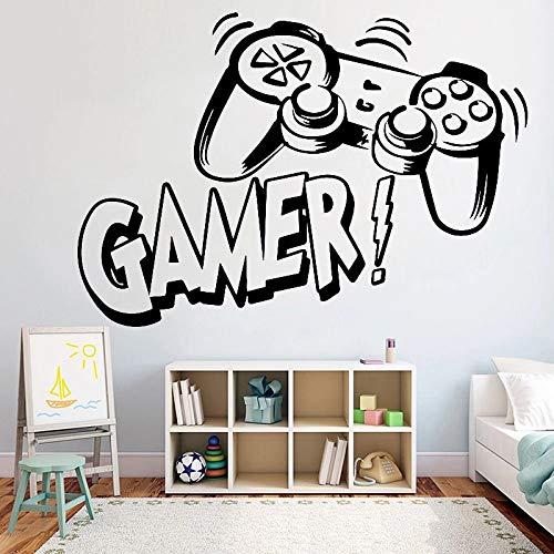 Vinilos decorativos pared videojuego dormitorio infantil