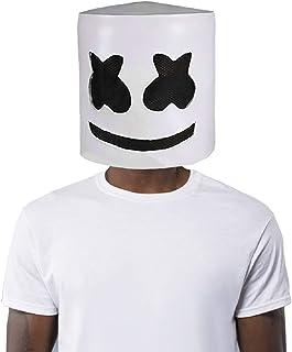 Finalshow Látex Máscara DJ Disfraz Cabeza Llena Casco Halloween Cosplay Traje Bar música Props Novedad Adulto