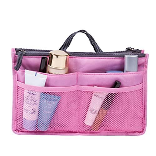 LSZA Bolso de Cosméticos,Bolsa de Viaje para Mujer Bolsa organizadora de Maquillaje Artículos de tocador Kits de Viaje Bolsa de Acabado de Almacenamiento Bolsa de cosméticos de Color con cre