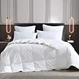 Three Geese Lightweight Down Blanket,Goose Down Comforter King Size Quilted Duvet Insert 100% Cotton 600 Thread Count 600 Fill Power with 8 Corner Tabs…