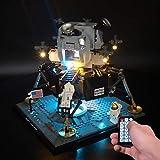 PPTOOL Kit de luces LED para Lego 10266 Creator Expert NASA Apollo 11 Lunar Lander – Kit de iluminación para Lego 10266 (no incluye modelo Lego) (versión RC)