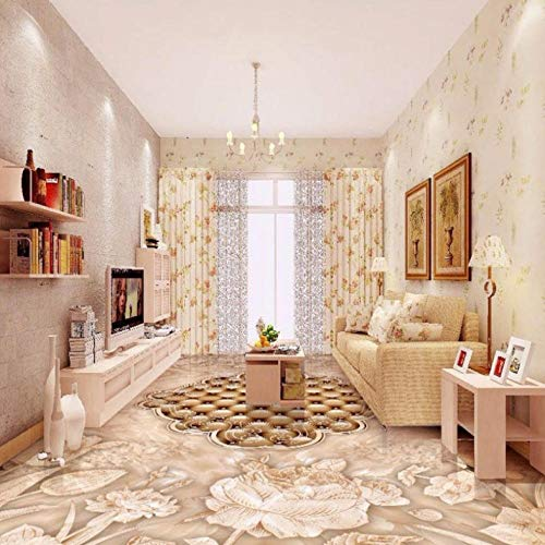 Dalxsh 3D High-End Retro met de hand beschilderde bloemen stenen patroon Parket badkamer keuken vloer behang muurschildering 200x140cm