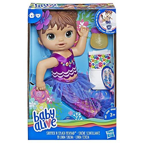 Baby Alive - Sirène et Bébé - Poupee Cheveux Bruns