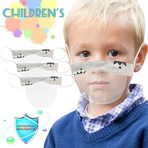 eiuEQIU Visier Gesichtsschutz aus Kunststoff - Jungen Mädchen-Universales Gesichtsvisier für Kinder Safety Gesichtsschutzschild Visier zum Schutz vor Flüssigkeiten (3pc)