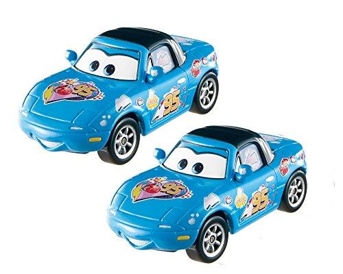 Personajes de la película 'Cars' Dinoco Mia y Tia, de Mattel, DKV58, 2 unidades , color/modelo surtido