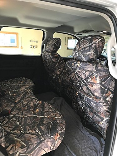 Durafit Seat Covers, DG29 Lost C, 2013-2019 Dodge Ram Crew Cab Front and Back Seat Truck Seat Covers, Exact Custom Fit, in Lost Camo Endura Fabric