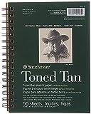 Strathmore Tan Drawing 400 Series Toned Sketch Pad, 5.5'x8.5', 50 Sheets