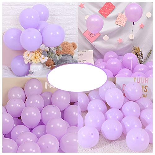 Party Pastel Balloons 200 pcs 5 inch Macaron Candy Colored Latex Balloons for Birthday Wedding Engagement Anniversary Christmas Festival Picnic or any Friends & Family Party Decorations-pastel purple